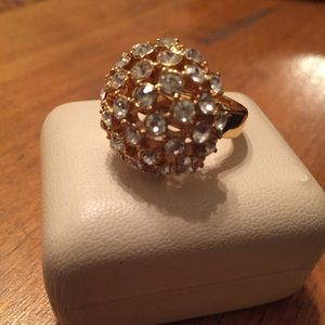 Kate Spade Gold and Crystal Dome Ring